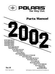 sportsman 500 ho rse duse 2002 parts manual washer