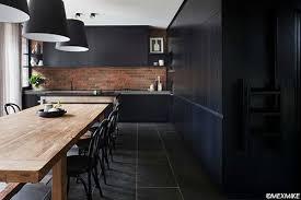 mur noir cuisine peindre ses murs en noir