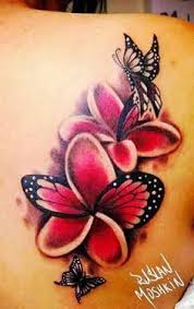 image result for butterfly plumeria tattoos