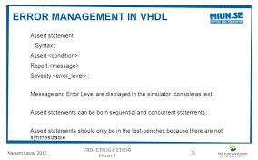 Test Benches In Vhdl Data Storage Vhdl Et062g U0026 Et063g Lecture 4 Najeem Lawal Ppt Download