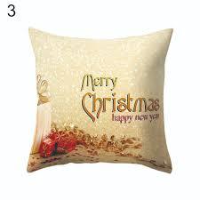 christmas xmas cushion cover throw pillow case home decor festive