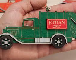 blue truck ornament etsy