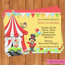 cirus carnival invitation kids birthday by bellachicards on etsy
