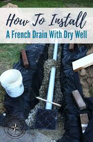 best 25 french drain installation ideas on pinterest french