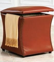ottoman orange square storage ottoman rectangle faux leather