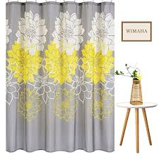 Kitchen Kitchen Curtain Sets Standard by Amazon Com Wimaha Peony Flower Fabric Shower Curtain Mildew