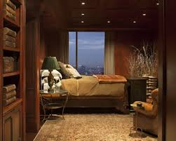 masculine living room ideas twisted shade table lamp dark bedside
