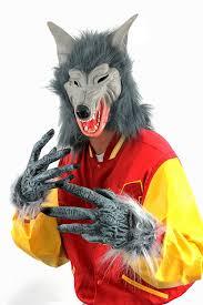 wolf set mask u0026 gloves halloween fancy dress accessory costume set