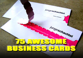 Cool Shaped Business Cards 75 Awesome Business Cards Refined Guy