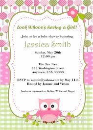 owl baby shower invitation with pink and green digital printable
