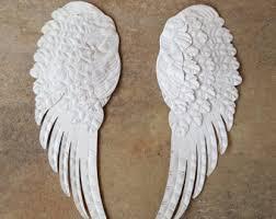 Angel Wing Wall Decor Metal Angel Wings Wall Decor Metal Cross Rustic Shabby Chic