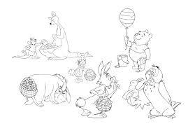 free winnie pooh coloring pages disney
