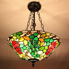 Stained Glass Light Fixtures Unique Double Pull Chain Tiffany Style Stained Glass Lamp