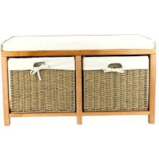 entryway bench with baskets and cushions awesome bench bench with storage baskets ikea coaster entryway and