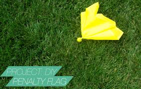 Football Penalty Flags Project Diy Football Penalty Flag S O U T H B O U N D S U A R E Z