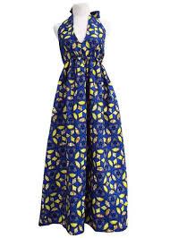 nenna african print maxi dress blue yellow clearance u2013 d u0027iyanu