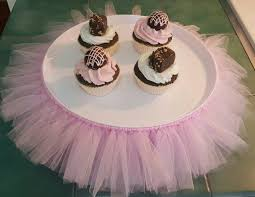 tutu centerpieces for baby shower cake stand tutu pink xl cupcake tier tulle skirt princess