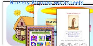 english teaching worksheets nursery rhymes