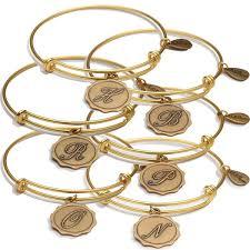 initials bracelet bellaryann alphabet initials bracelet charms in gold