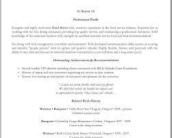 server job description resume template for food server http