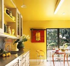 Yellow Kitchen With White Cabinets - yellow kitchen wall with white cabinets u2014 smith design
