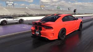 charger hellcat 9 second dodge charger hellcat destroys corvette in drag race