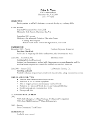 Sample Resume Of Chef by Chef Resumes Resume Cv Cover Letter