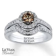chocolate wedding ring set le vian bridal set 1 1 5 ct tw diamonds 14k vanilla gold bridal