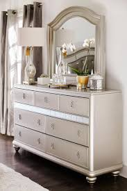 Mirrored Furniture Bedroom Sets Bedroom Furniture White And Gold Dresser Modern Glam Bedroom