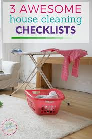 printable house cleaning checklists spring cleaning to do lists