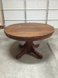 solid oak pedestal dining table circa 1890 1900 antique