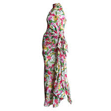vintage valentino boutique flower silk maxi dress for sale at 1stdibs