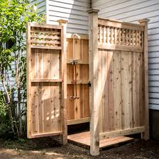 building an outdoor shower shower kits backyard and yards