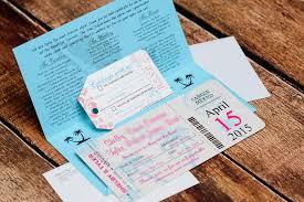 boarding pass wedding invitations pink boarding pass wedding invitations to secrets the vine mexico
