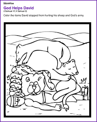 god helps david protect his sheep and god u0027s army kids korner
