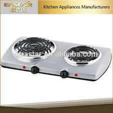 2 Burner Cooktop Electric 2016 New Coil Stainless Steel 2 Burner Electric Stove Cooking