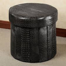Make Storage Ottoman by Furniture Leather Pouf Ottoman Padded Coffee Table Round