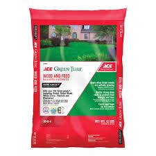 ace weed u0026feed fertlz 15m lawn fertilizers ace hardware