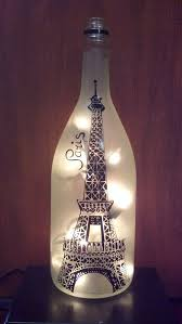 lights made out of wine bottles eiffel tower paris recycled wine bottle l light bottle wine