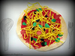 pizza with easter grass for open house set the art room tables w