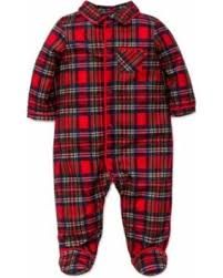 amazing deal me baby boys plaid pajamas footie