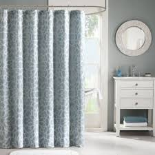 Silver Shower Curtains Buy Silver Blue Fabric Shower Curtains From Bed Bath U0026 Beyond