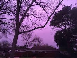 purple pictures purple lights up the sky in houston area cbs news