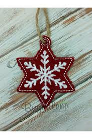snowflake ornament embroidery design ith