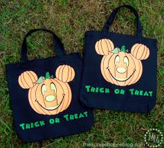 halloween totes mickey halloween trick or treat bag with free cut file the