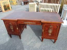 ensemble bureau biblioth ue ensemble bureau fauteuil et bibliothèque en bois moucheté artisans