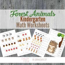 forest animals kindergarten math worksheets