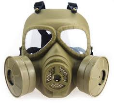 halloween gas mask costume amazon com myheartgoon airsoft paintbal dummy gas mask fan for