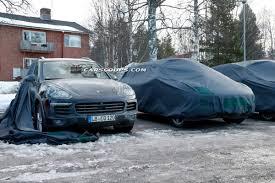 2015 Porsche Cayenne - spy shots wind blows the covers off 2015 porsche cayenne facelift