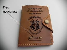 harry potter passport cover leather passport